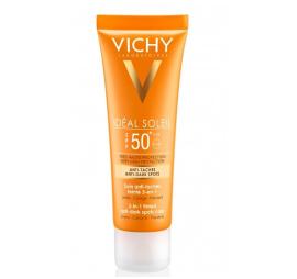 VICHY Ideal Soleil SPF50 Krem barwiący do twarzy zapobiegający przebarwieniom, 50 ml